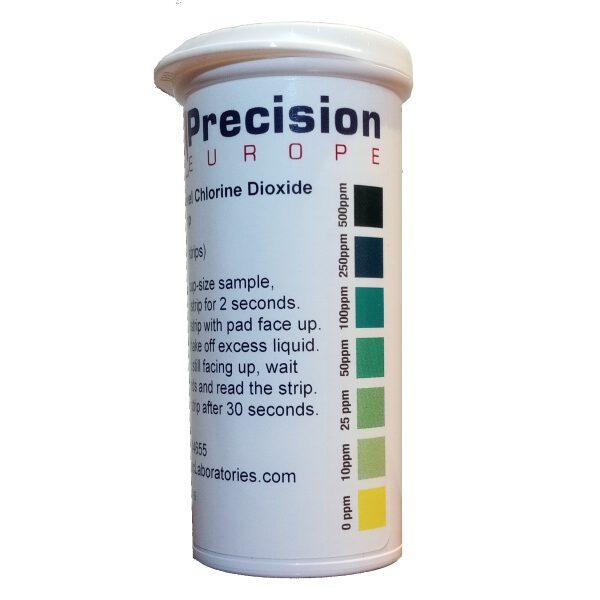 Tiras reactivas dióxido de cloro